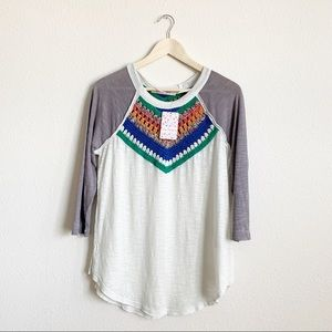 FREE PEOPLE - Spring Bound Ragland Tee- small